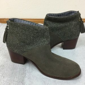 Toms Leila bootie olive green size 8.5